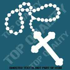 ROSARY CROSS RELIGIOUS DECAL STICKER SPIRITUAL CAR TRUCK SUV 4X4 INDOOR OUTDOOR