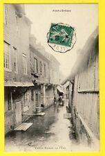 cpa France Normandie 14 - PONT L'ÉVÊQUE (Calvados) Vieilles MAISONS sur l'YVIE