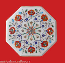 "12"" Marble Coffee Table Handmade Pietra dura Art Craft Work Home Decor Gift"