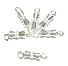 M753f Silver-Finished Brass 8x4mm Screw Barrel Clasp Jewelry Component 10/pkg