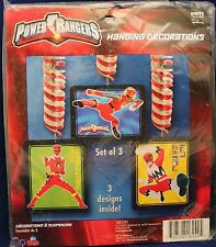 POWER RANGERS HANGING PARTY DECORATIONS Birthday Child Boys Ninja Ceiling NEW