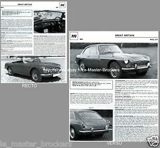 MG MGB_MG MGC GT Coupé_FICHE AUTO PRESSE COLLECTOR VINTAGE #GT2