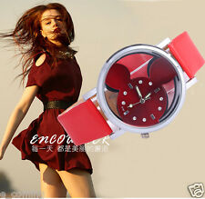 10pcs Mickey Mouse Daimond WATCH Mixed Color Hollow Out Fashion Womens Kid Watch
