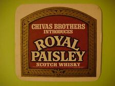 BEER Pub COASTER: Chivas Brothers    Chivas Regal - Royal Paisley Scotch Whisky