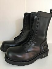 STIVALI CULT N 37 ANFIBI BOOT PELLE COLL  2016 UOMO DONNA VINTAGE NERO