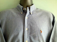 MENS RALPH LAUREN SHIRT SIZE L - XL BLUE LONG SLEEVE CASUAL YARMOUTH 16 - 34