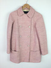 Zara Pink Collared Button Up Coat Size XS UK 6/8