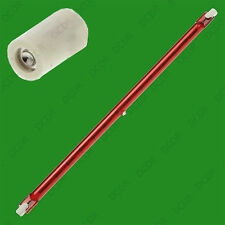 1x 1300W 254mm R7S Halogen Quartz Ruby Red Infra-Red Heater Bar Tube, Heat Lamp