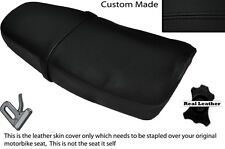 BLACK STITCH CUSTOM FITS YAMAHA SRX 600 DUAL LEATHER SEAT COVER ONLY