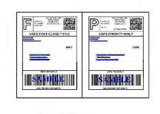 80 Self Adhesive 8.5 x 11 Shipping Labels for UPS USPS FEDEX PAYPAL FREE SHIP