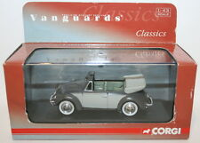 Vanguards 1/43 Scale VA00203 VW Beetle Cabriolet - Delphin Grey