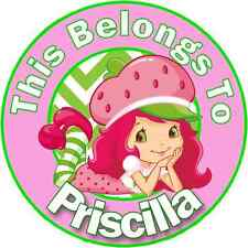 24 PERSONALIZED STRAWBERRY SHORTCAKE Property Stickers school Name TAGS Labels