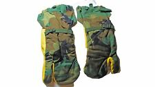 USGI Surplus Woodland Camo Trigger Finger Hunting Gloves Mittens Large L &Liners