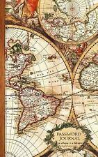 Password Journals - Antique Travel Map: Password Journal : Password Keeper /...