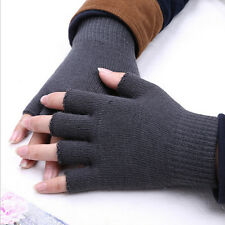 Men Women Winter Fingerless Half Finger Warm Knit Knitwear Magic Gloves Mitten