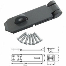 7 INCH HEAVY DUTY ANTI RUST HASP AND STAPLE FOR DOORS GATES AND SECURITY LOCKS