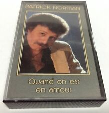 PATRICK NORMAN tape cassette QUAND ON EST EN AMOUR 1984 Star Records STL4-1003