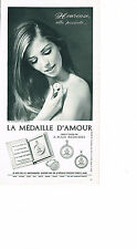 PUBLICITE ADVERTISING  1967   LA MEDAILLE D'AMOUR