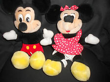 Lot of 2 Disney plush figures, Mickey and Minnie, Disneyland/Walt Disney World