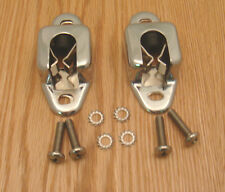 1955 1956 1957 CHEVY REAR SEAT LATCHES & CHROME COVERS  STATION WAGON