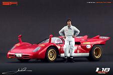 1/18 Mario Andretti VERY RARE! figure for1:18 Ferrari CMC Autoart Lotus Nascar