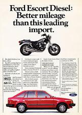 1984 Ford Escort Diesel -  Original Advertisement Car Print Ad J513