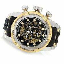 Invicta 20419 Reserve Gold Bolt Zeus Twisted Metal Swiss Chronograph Strap Watch