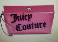 Juicy Couture Women's Flocked Pink Clutch/Wallet NWT