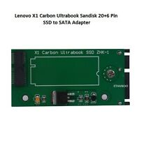 NEW Lenovo X1 Carbon Ultrabook Sandisk 20+6 Pin SSD to SATA Adapter
