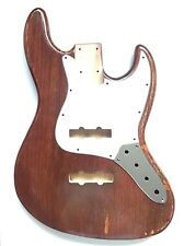 RUSTIC RELIC JAZZ BASS GUITAR BODY 4 PROJECT - DARK BROWN WOODEN FX - ASH WOOD