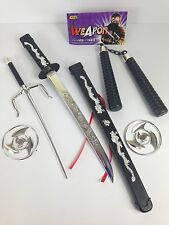 Toy Samurai Sword Ninja Weapons Set Fancy Dress Party Plastic Weapons Turtles