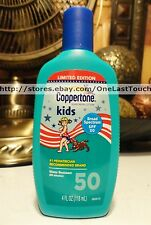 COPPERTONE Sunscreen Lotion KIDS SPF 50 Water Resistant LIMITED EDITION 4 oz