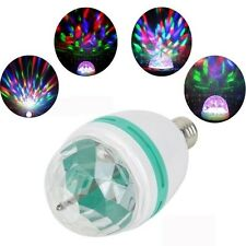 E27 3W Colorful Rotating RGB 3 LED Light Bulb Lamp Stage Disco KTV Party