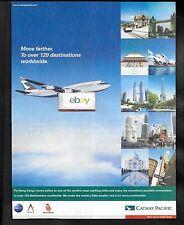 CATHAY PACIFIC AIRWAYS SWIRE GROUP TO OVER 120 DESTINATIONS B747-400 HKG AD