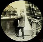 Glass Magic Lantern Slide VICTORIAN BOY NO1 C1890 VICTORIAN TALE