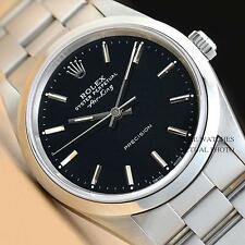 MENS ROLEX 14000 AIR-KING BLACK DIAL OYSTER PERPETUAL STAINLESS STEEL WATCH