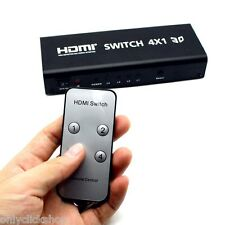 HDMI Switch 4X1 With Audio Toslink Coaxial Switcher Controller Device 3D EU Plug