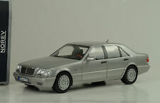 1997 Mercedes-Benz s600 v12 w140 silver argent Light Grey 1:18 NOREV 183563