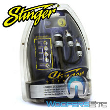STINGER SHI4312 12 FOOT 4 CHANNEL HPM3 RCA CAR AUDIO AMPLIFIER CABLES WIRES NEW