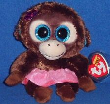 "TY BEANIE BOOS - NADYA the 6"" MONKEY - EUROPEAN EXCLUSIVE - MINT with MINT TAG"