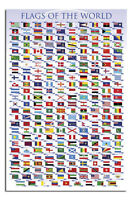 Flags Of The World Large Maxi Wall Poster New - Laminated Available
