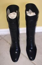 Sergio Rossi Women's Black WedgeRain Boots NIB 39