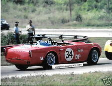 TRIUMPH TR4 RACING ELKHART LAKE 1967 ROAD AMERICA PHOTOGRAPH