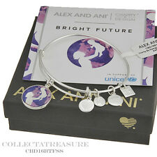 Authentic Alex and Ani Bright Future Shiny Silver Charm Bangle CBD