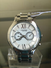 NIB ANNE KLEIN New York Silver Tone Multifunction Swiss Ladies Watch FREE SHIP