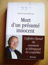 Livre Mort d'un présumé innocent l'affaire Chanal /A14