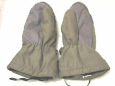 German Military Army Surplus Green Felt-lined gloves Mittens Leather XL New