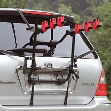 Universal 3 Bicycle carrier Car Rack Bike Cycle Fits Most Cars Rear Mount New