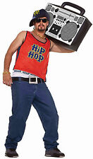Men's 80's Hip Hop Home Boy Old School Rapper Adult Costume