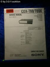 Sony Service Manual CDX T69 /T69X CD Changer (#4254)